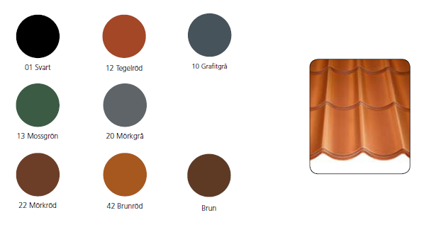 Villatak Standardfärger