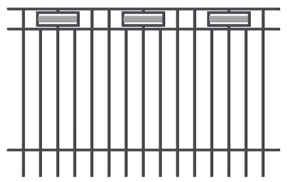 Staket Argos Mått (BxH): 2x1,2m Kulör: Grafitgrå 2:a-sort visningsmodell Nu: 660kr Stolpar tillkommer Finns 1st
