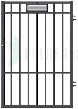 Argos gånggrind (W7682/W7683) Mått (BxH): 0,9x1,5m Kulör: Grafitgrå 2:a-sort visningsmodell Nu: 750kr Stolpar tillkommer Finns 1st