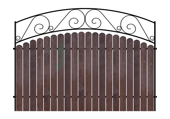 Staket Modena Mått (BxH): 2x1,45m Kulör: Svart + trä 2:a-sort visningsmodell Nu: 1170kr Stolpar tillkommer Finns 1st