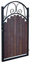 Modena gånggrind (W3911) Mått (BxH): 0,9x1,5m Kulör: Svart 2:a-sort visningsmodell Nu: 1110kr Stolpar tillkommer Finns 1st