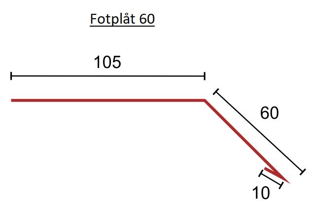 Fotplåt 60