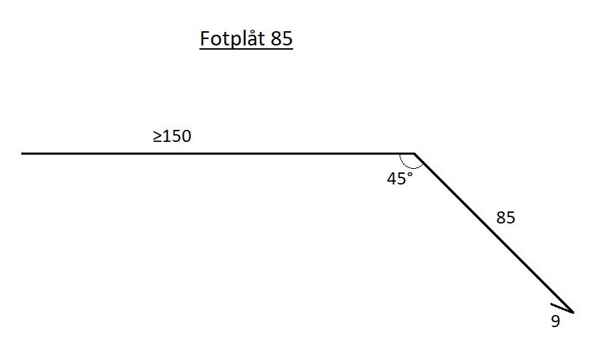 Fotplåt 85